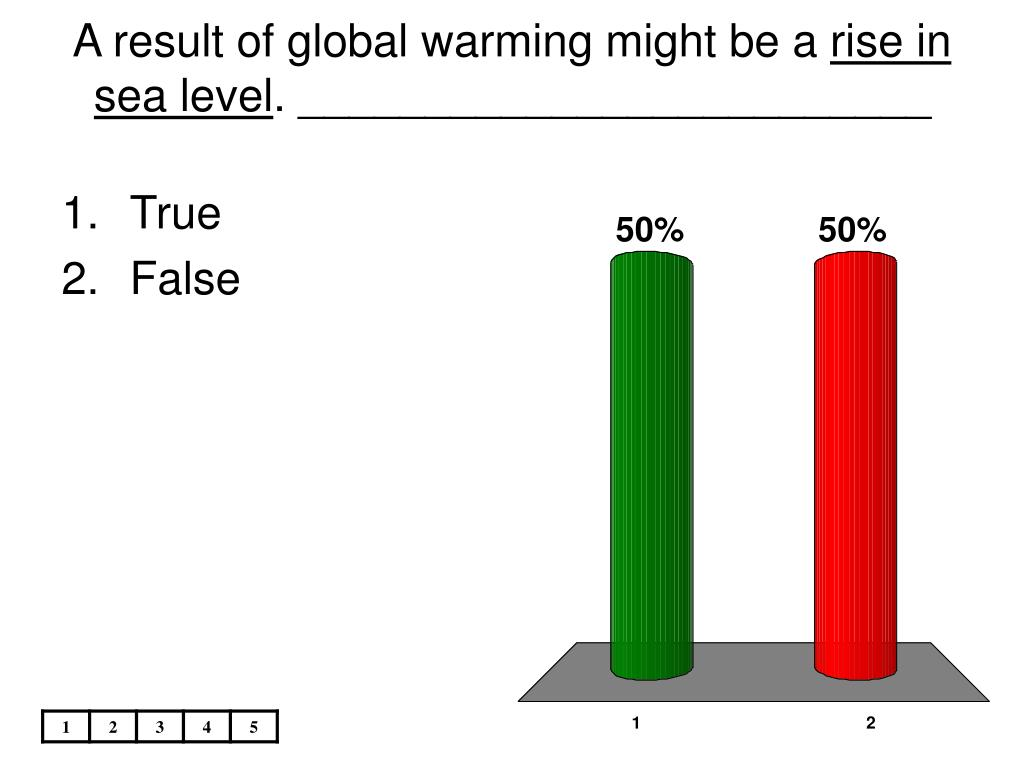 A result of global warming might be a