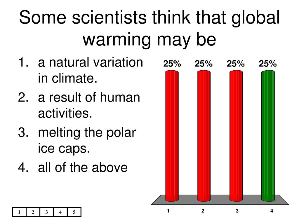 Some scientists think that global warming may be