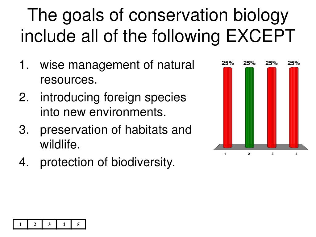 The goals of conservation biology include all of the following EXCEPT