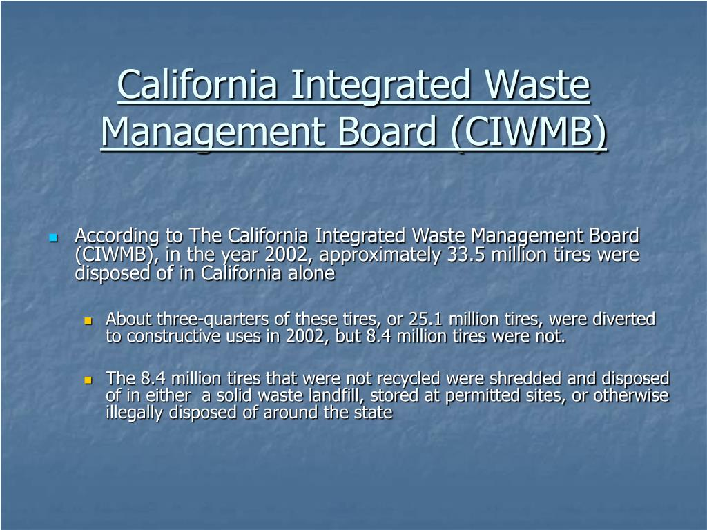 California Integrated Waste Management Board (CIWMB)
