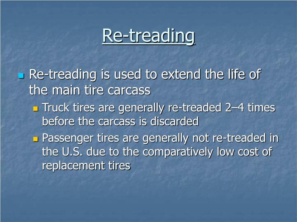 Re-treading