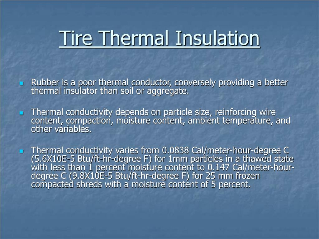 Tire Thermal Insulation