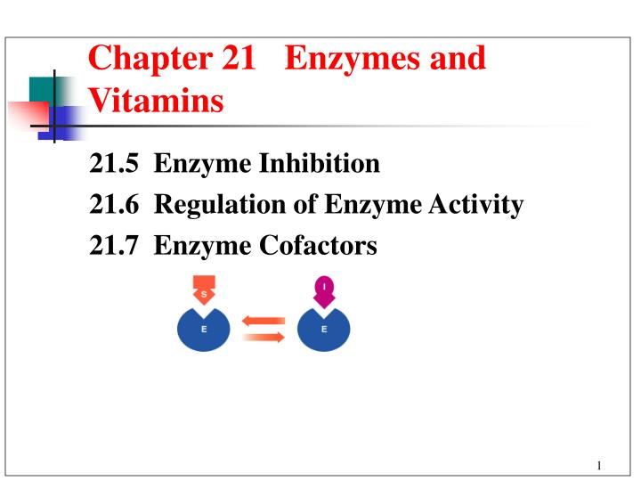 chapter 21 enzymes and vitamins n.