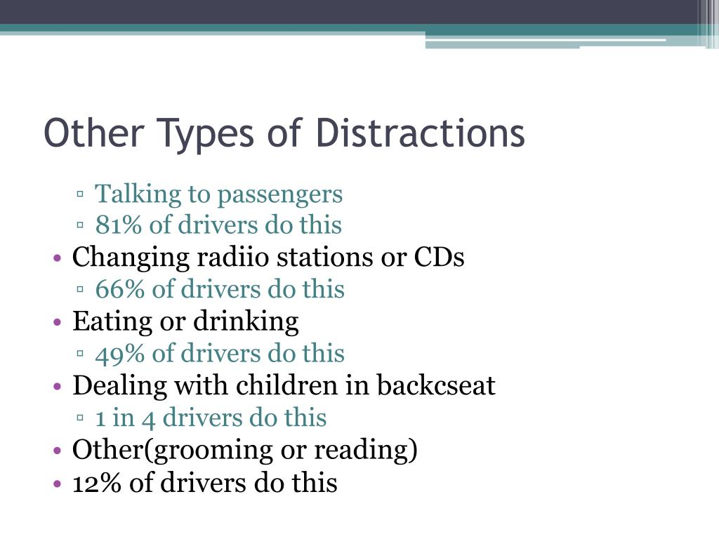 Other Types of Distractions