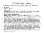 enlightenment values