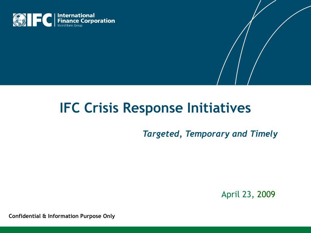 ifc crisis response initiatives l.