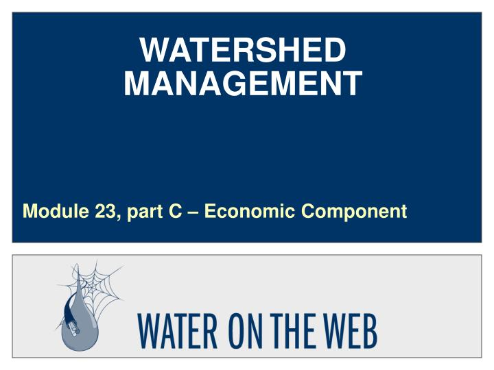 watershed management n.