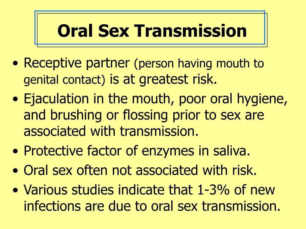 Oral Sex Transmission