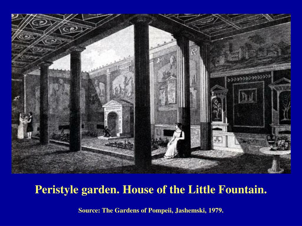 Peristyle garden. House of the Little Fountain.