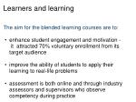 learners and learning