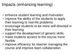 impacts enhancing learning