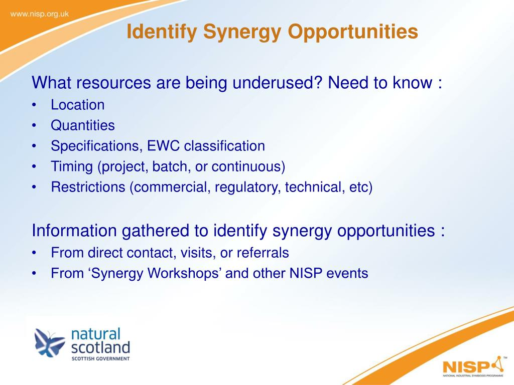 Identify Synergy Opportunities