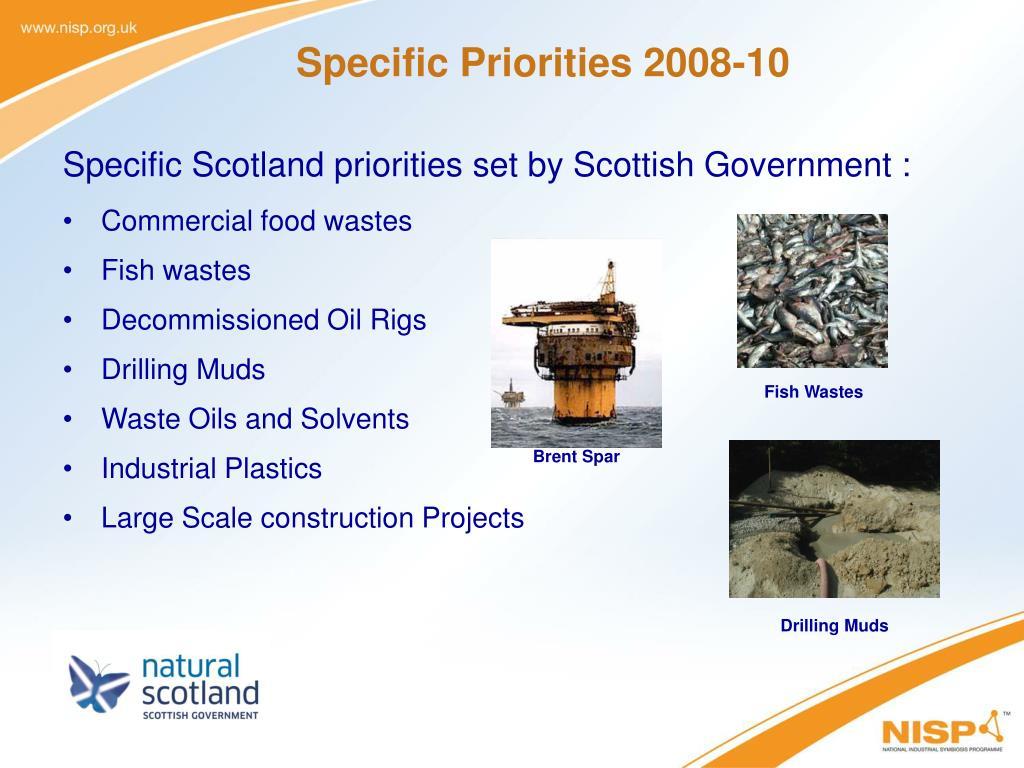 Specific Priorities 2008-10