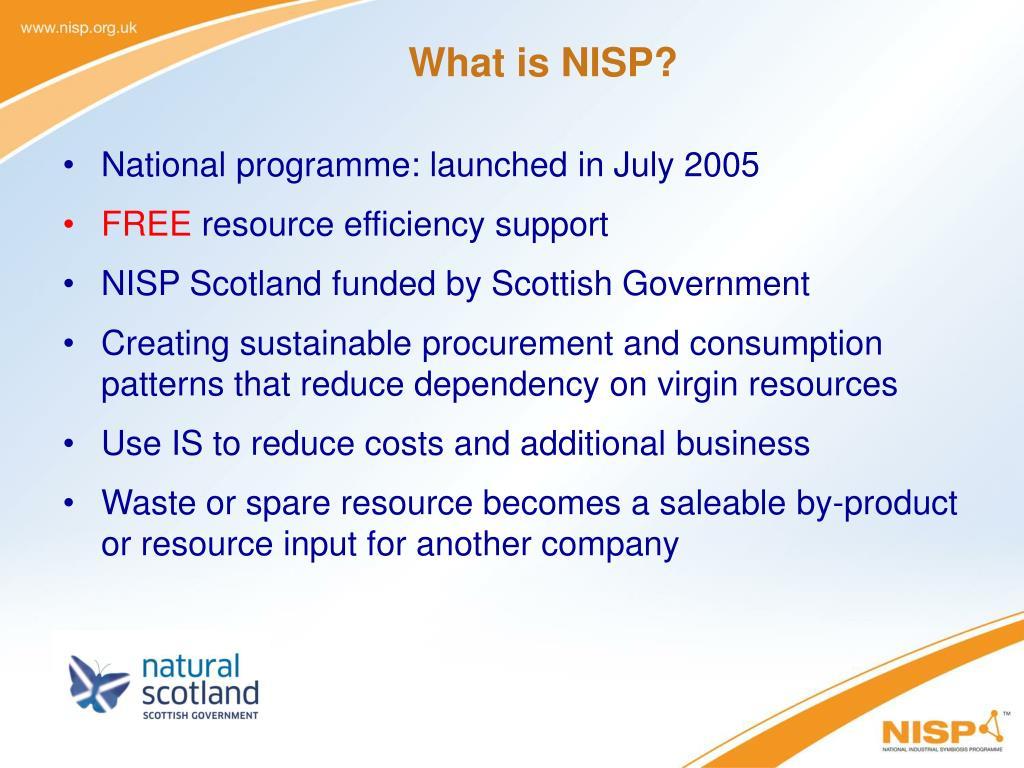 What is NISP?