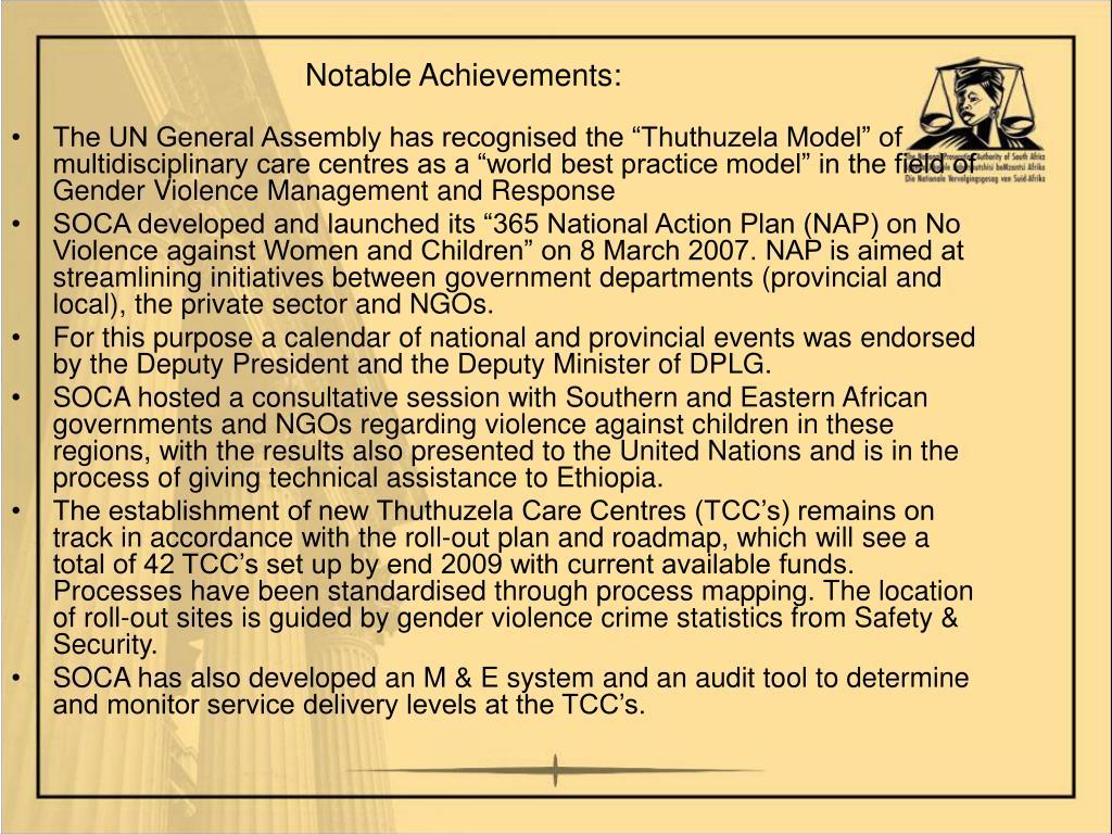 Notable Achievements: