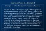 insurance proceeds example 1