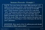 insurance proceeds example 3