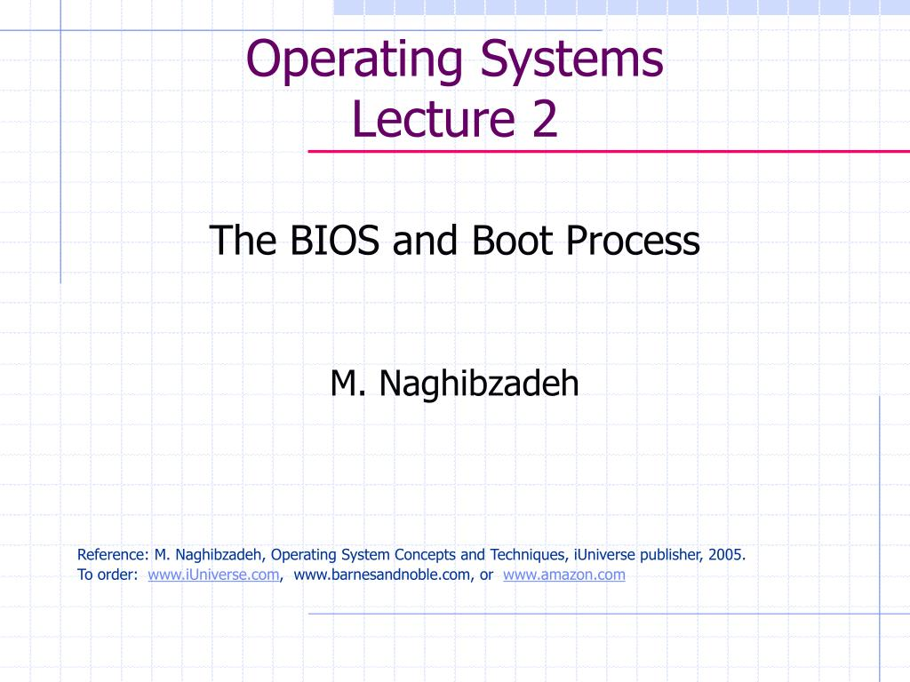 operating systems lecture 2 l.