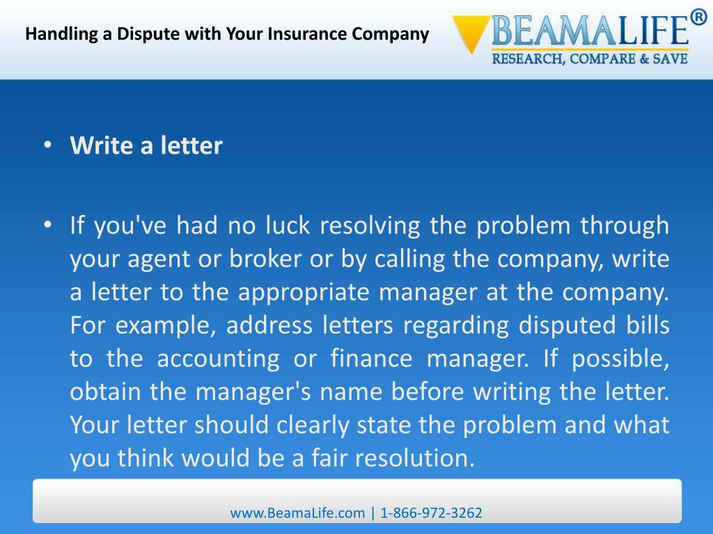Handling a Dispute with Your Insurance Company