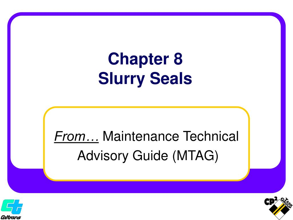 chapter 8 slurry seals l.