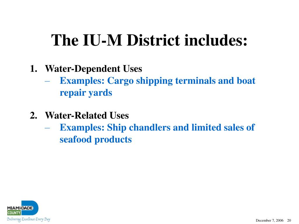 The IU-M District includes: