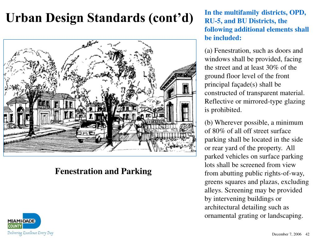 Urban Design Standards (cont'd)