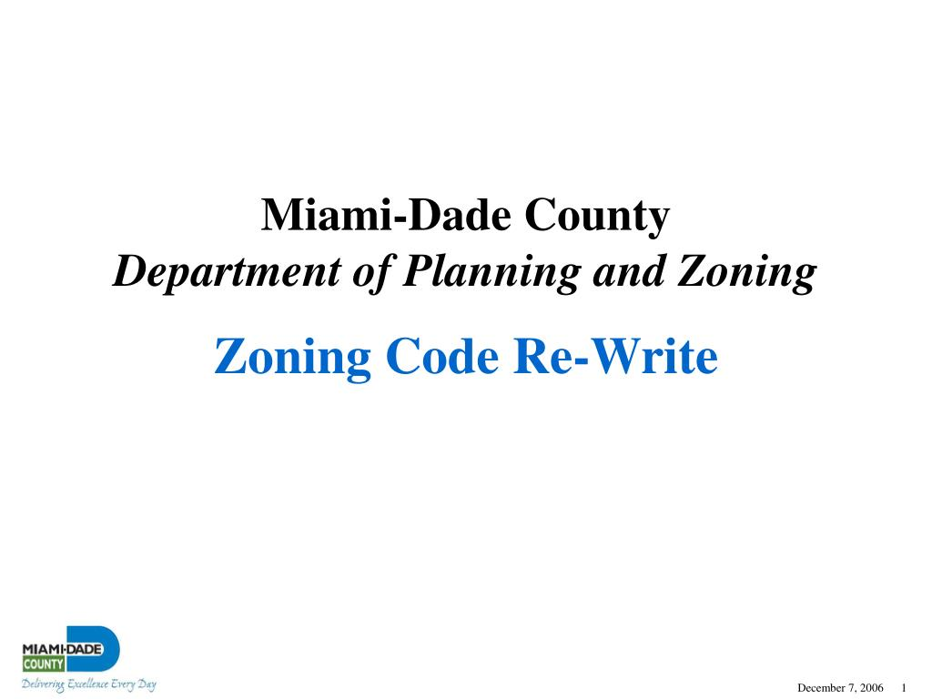 Zoning Code Re-Write