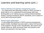 learners and learning aims cont1