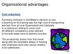 organisational advantages