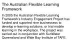 the australian flexible learning framework