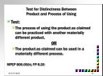 test for distinctness between product and process of using