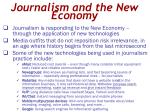 journalism and the new economy