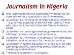 journalism in nigeria