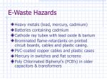 e waste hazards