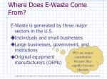 where does e waste come from
