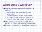 where does e waste go1