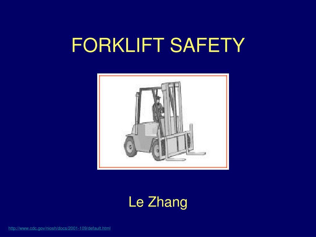 forklift safety l.