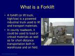 what is a forklift