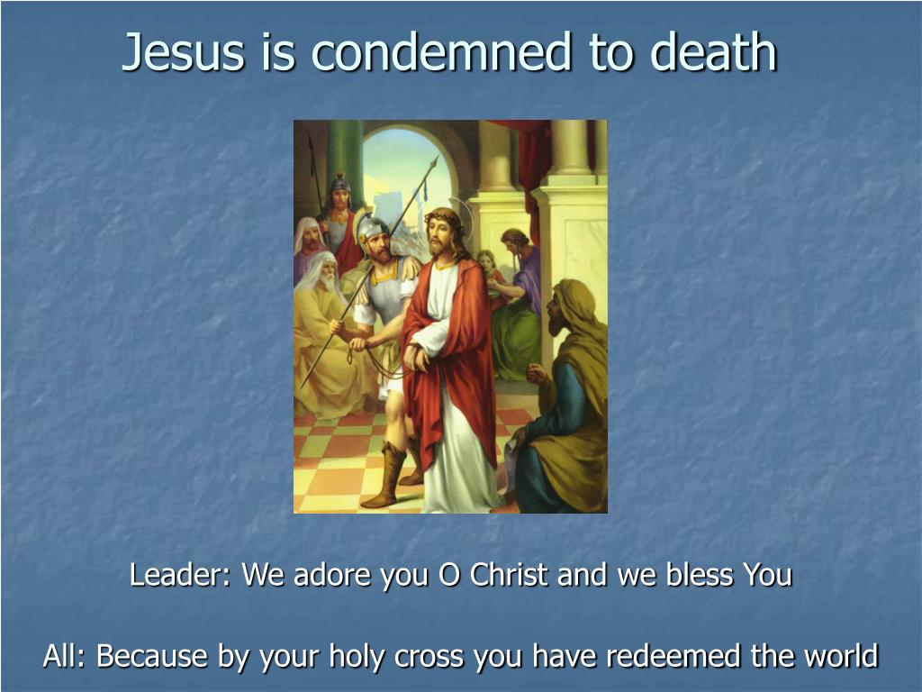 jesus is condemned to death l.