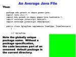 an average java file