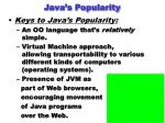 java s popularity
