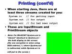 printing cont d