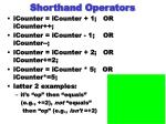 shorthand operators
