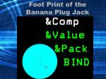 foot print of the banana plug jack