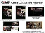 cardio gx marketing materials