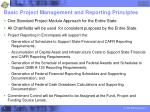 basic project management and reporting principles