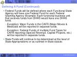 defining a fund continued