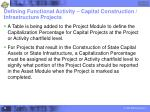 defining functional activity capital construction infrastructure projects