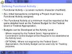 defining functional activity