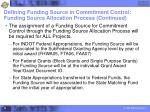 defining funding source in commitment control funding source allocation process continued24
